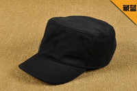 Wholesale CheapNew Arrival Hats Unisex Flat Top Caps High Quality Service Cap Whole Color Sun Hat Mix Colors