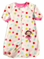 Unisex Summer 0-12M Shopping festival baby sleeping bag lovely monkey baby pajamas new fleece newborn infant spring autumn long-sleeves pajamas