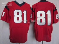 Wholesale Brand New Elite Football Jerseys Red Mens Football Jerseys High Quality Comfy Breathable Top Selling Cheap Sports Jerse