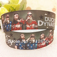 Wholesale New Arrival mm DUCK DYNASTY printed Grosgrain ribbon Polyester star Ribbon DIY haribow garment etc accessories