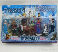 Wholesale Frozen Anna Elsa Hans Kristoff Sven Olaf PVC Action Figures Toys Classic gift Toys
