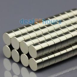 Promotion aimant néodyme forte 200pcs N50 Super Strong rondes disques Cylindre Magnets Rare 5mm Terre néodyme x 3mm livraison gratuite