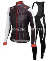 Wholesale Autumn Castelli cycling jersey long sleeve Cycling wear bib Pants kit cycling clothing set Bicycle Jersey