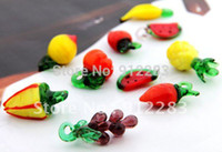 assorted glass pendants - Assorted Fruits Lampwork Murano Glass Charm Pendants Fashion Charms