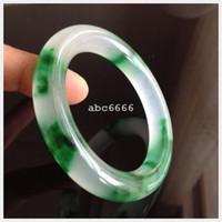Wholesale Details about Chinese Natural Grade Jade Jadeite Bangle blue Bracelet