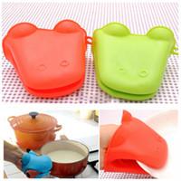 Wholesale Hot Heat resistant Silicone Kitchen Baking Glove Oven Pot Mitt Holder Tool