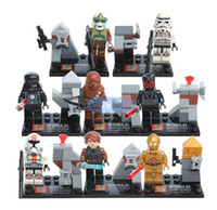 Wholesale New Star Wars Minifigures Black Knight Clone Soldiers SY198 ABS Plastic Building Block Set Compatible with Lego0