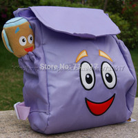 Backpacks fabric for kids - New Dora The Explorer School Bags Kids Backpack For Girls And Boys KF494 Nylon Fabric Water Proof Lining