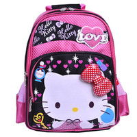 Wholesale 2014 Hot Sale Kids Cartoon Bag hello kitty bow children school bags children backpacks tote girls animal print backpacks