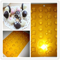 Wholesale New mushroom mould Cookies decoration cake decoration Especial day present DIY chocolate mould PET QM189