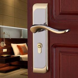 Wholesale Door locks Bedroom interior wood door doorknob locks double tongue lock cylinder mechanical bearings