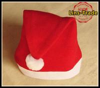 Christmas Decoration Supplies christmas decoration santa claus - New christmas hat headwear decorations santa claus cap ornament xmas gift SD010