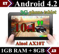 Wholesale DHL Ainol AX10T Numy G AX10 Phone Call Tablet pc inch MTK8312 Dual Core GB GB Android Camera WCDMA GSM Bluetooth GPS TA11