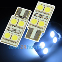 Wholesale 2 X White T10 Canbus SMD LED Car Side Wedge Light Lamp Bulb W5W New