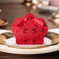 Wholesale Butterfly Flower Laser Cut Paper Hollow out Wedding Favor Candy Box Boxes creative wedding candy box Favor box