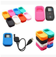 Wholesale GoPro Hero remote silicone sets Dark blue green red and white rose red and pink