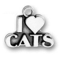 Slides, Sliders bangles cats - I Love Cats Alloy Charms For Wire Expandable Jewelry Bangles Making AAC040