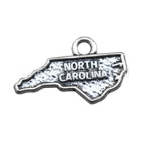Slides, Sliders north carolina - Vintage Alloy Map Charms North Carolina Charm Accessorices For Alex And Ani Bangles AAC028