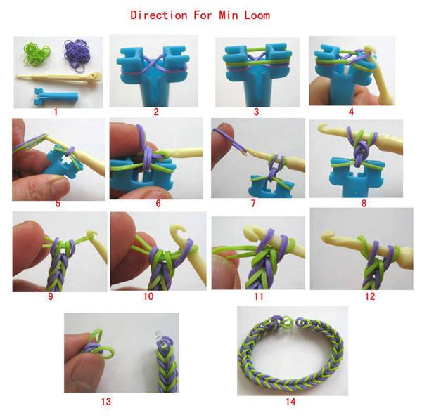 Mini Rainbow Loom Bracelet Mini Rainbow Loom Kit Hook