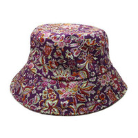 Wholesale Floral Bucket Hats Classic Barrel Caps Summer Men and Women Fashion Outdoor Climbing Fishing Hat Bucket Hat Foldable Brand Round Cap Sun Hat