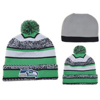 Wholesale 2014 New Football Pom Pom Beanies Cheap Football Beanies Brand Knitted Beanie Hats Popular Warm Winter Caps Sports Team Hats Allow Mix Order