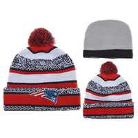 Beanie/Skull Cap basketball patriots - New Arrival Patriots Beanies Football Beanie Caps Sports Team Hats Fashion knitted Beanies with Pom Skulls Beanie Pom Pom Beanies for Sale