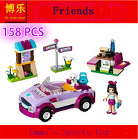 Wholesale Bela Friends Emma s Sports Car Minifigure Buliding Block Bricks Toy Learning Education for girl Gift