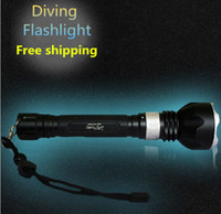 Wholesale New Underwater Diving Flashlight Torch XM L2 LED Light Lamp Waterproof Lm Super T6 LED