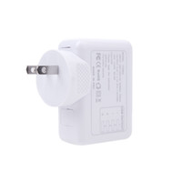 Wholesale 4 USB Post V A AC Adapter US Plug Wall Charger Adapter for iPhone iPad Samsung HTC LG Smartphone Tablet