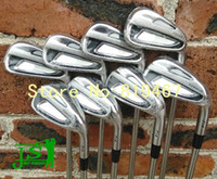 Wholesale 2014 golf clubs forged irons set pw N s pro950gh steel R flex shaft golf irons free headcovers