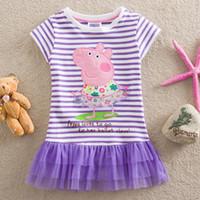 Wholesale 2014 new summer children s clothing peppa pig child cotton skirt girls dress LU2