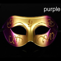 Wholesale New Design Modern Color Painting Half shape Pattern Mask Men s Masquerade Plastic Mask