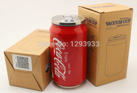Bamboo stainless steel double wall bottle - soda can stainless steel water bottle cola cup Stainless Steel Cola Cup Double Wall S S Cup
