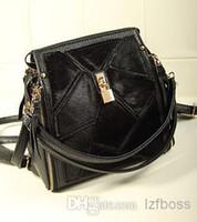 Wholesale horsehair decorative stitching zipper personalized retro shoulder bag Messenger bag ladies clutch bag