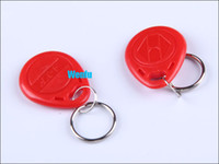 Wholesale 20PCS KHZ Rewritable RFID Smart ID Keychain Card Tag Keyfob With EM4305 Chip For Copier Duplicater Access Control
