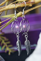 Sample Retail native american - shipping free native american dream catcher earring