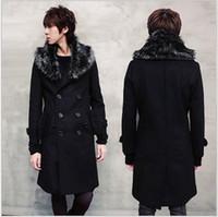 Wholesale New Winter Parka Men s Down Jacket Feather Collar Warn Men Down Coat Long Coat Outerwear