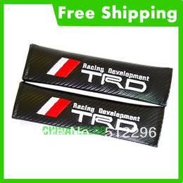Wholesale pair Carbon Fiber Seat Belt Cover Shoulder Pad fir for TRD tracking no