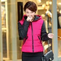 Women winter jackets for women - Winter Women s Fashion Hooded Jacket Polka Dot Print Winter Coat Women Slim Wadded Jacket For Women VSA1531