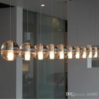 Wholesale Bocci pendant lamp LED Crystal Glass Ball Meteor Rain Ceiling Light Meteoric Shower Stair Bar Droplight Chandelier Lighting
