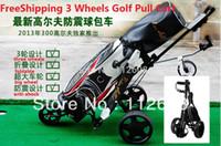 Wholesale Aluminium alloy Golf Pull cart Golf Trolley Golf Push pull cart wheels Pull cart Foldable Trolley with Brake