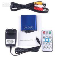 Wholesale New arrival P HD Digital Mini Media Player HD Full HDMI USB TV MKV RM RMVB Blue color H322