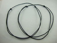 Wholesale 50 x Black Waxed Cotton Adjustable Necklace Cords mm Thick