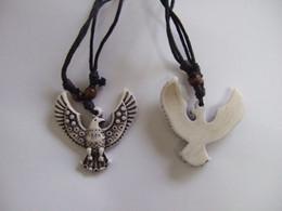 12 Pcs yak bone resin carving Eagle pendant necklace wholesale