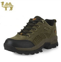 Wholesale new Fashion Genuine Camel Men Women outdoor waterproof hiking leather shoes Comfortable shoes breathable shoes Size