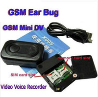 Wholesale New High Quality X009 Mini GSM Sim Camera camcorder GPS tracker linstening Hidden camera sim card camera Video Recorder Voice