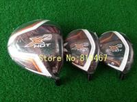 Driver wood - 2014 new golf clubs X2 hot driver X2 hot fairway wood regular flex golf woods free headcovers