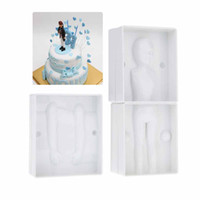Wholesale 3D Human Figure Mold Mould Die Plastic Kitchen Accessories for Decorating Fondant Wedding DIY Cake Baking Bakeware Tool H12203