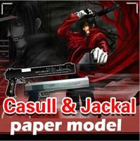 Wholesale 1 firearms Hellsing weapons Casull Jackal D paper model pistol Handmade DIY manual gun toy