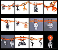 Wholesale Garland Halloween decorations set decoration items Spider pumpkin ghost head style more than